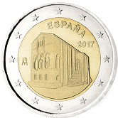 Spanish Commemorative Coin 2017 - Santa Mariadel Naranco Church