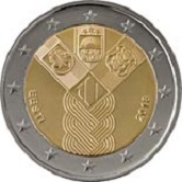Estonian Commemorative Coin 2018 - joint independence
