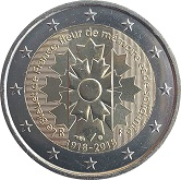 French Commemorative Coin 2018 - Corn Flower