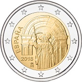 Spanish Commemorative Coin 2018 - Old Town of Santiago de Compestela