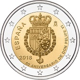 Spanish Commemorative Coin 2018 - Birthday of King Felipe VI