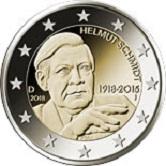 German Commemorative Coin 2018 - Helmut Schmidt