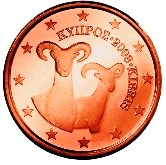 Cyprus 1 cent coin  Cypriot Mollon