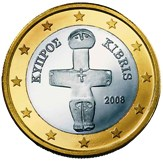 Cyprus 1 Euro €  coin - cypriot idol of pomos