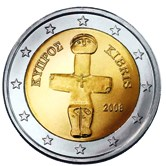 Cyprus 2 Euro €  coin - cypriot idol of pomos