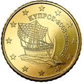 Cyprus 50 cent coin  Cypriot Karenia