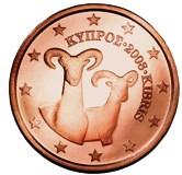 Cyprus 5 cent coin  Cypriot Mollon