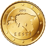 Estonian 10 cent coin