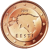 Estonian 1 cent coin