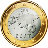 Estonian 1 Euro €  coin