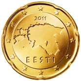 Estonian 20 cent coin