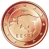 Estonian 2 cent coin