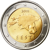 Estonian 2 Euro € coin