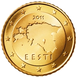 Estonian 50 cent coin