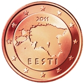 Estonian 5 cent coin
