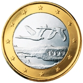 Finnish 1 Euro €  coin