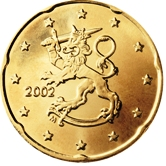 Finnish 20 cent coin