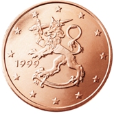 Finnish 5 cent coin