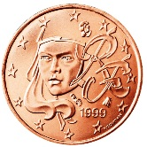 French 1 cent coin