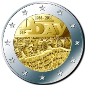 French Commemorative Coin 2014 - Landings in Normandy