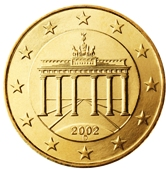 German 10 cent coin