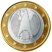 German 1 Euro €  coin