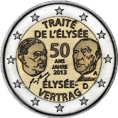 German Commemorative Coin 2013 - Elysee Vertag Treaty