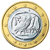 Greek 1 Euro €  coin