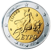 Greek 2 Euro € coin