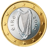 Irish 1 Euro €  coin