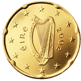 Irish 20 cent coin