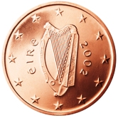 Irish 5 cent coin