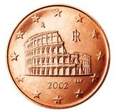 Italian 5 cent coin