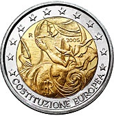 Italian Commemorative Coin 2005 - European Constitution