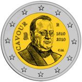 Italian Commemorative Coin 2010 - Cavour