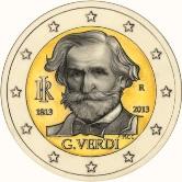Italian Commemorative Coin 2013 - Guiseppe Verdi