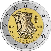 Italian Commemorative Coin 2014 - 200th anniversary Carbinieri