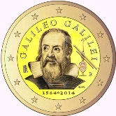 Italian Commemorative Coin 2014 - Galileo Galileis