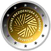 Latvian Commemorative Coin 2015 - Latvian Presidency of the EU