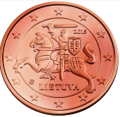 Lithuanian 1 cent coin