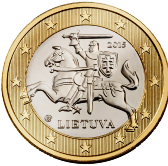 Lithuanian 1 Euro €  coin