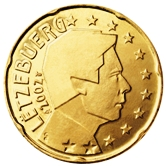 Luxembourg 20 cent coin