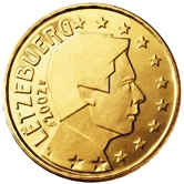 Luxembourg 50 cent coin