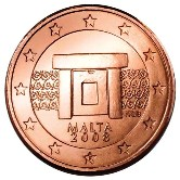 Maltese 1 cent coin