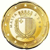 Maltese 20 cent coin