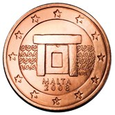 Maltese 2 cent coin