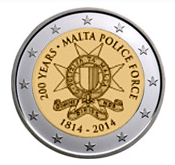 Maltese Commemorative Coin 2014 - Maltese Police