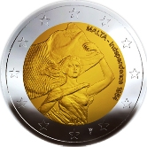Maltese Commemorative Coin 2014 - Independence from Great Britian