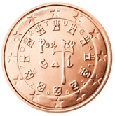 Portuguese 2 cent coin