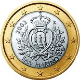 San Marino 1 Euro €  coin
